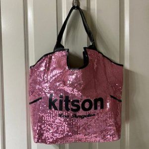 """Kitson """" Los Angeles"""" Sequined Tote Bag"""